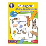 Carte de colorat cu activitati in limba engleza si abtibilduri Ferma, orchard toys