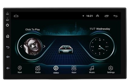 MP5 Player de 7 inchi cu Android, navigatie, GPS, 16GB memorie, Android 8.1