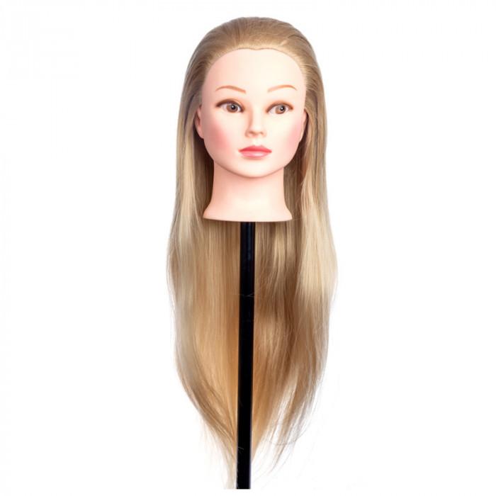 Cap practica 4A, 80 cm, blond, par sintetic, suport inclus