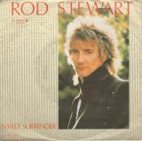 "Rod Stewart - Sweet Surrender (1984, Warner) Disc vinil single 7"""