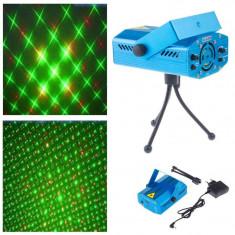 Proiector laser efecte luminoase cu senzor de sunet foto