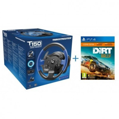 Volan gaming THRUSTMASTER T150 Force Feedback (PC, PS3, PS4) + Joc Dirt Rally PS4 foto