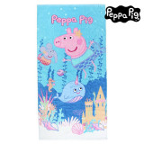 Prosop de Plajă Peppa Pig 75495 Bumbac Albastru