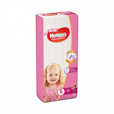 Scutece Huggies Ultra Comfort Girls, Nr 5, 12 - 22 Kg, 56 buc