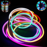 Neon Flex Furtun Luminos Flexibil Rola 100m Multicolor 2Fete 1.5cm