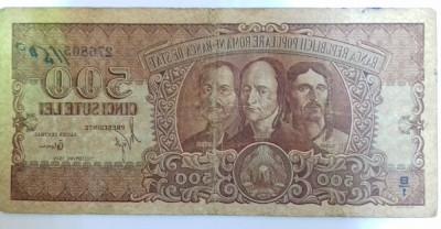 Bancnota 500 Lei - 1949 foto