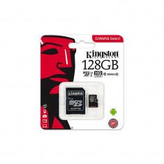 Card de memorie Kingston microSDXC Canvas Select 80R 128GB Clasa 10 UHS-I U1 80 Mbs cu adaptor SD