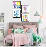 Cumpara ieftin Set 4 tablouri decorative Love, Heinner