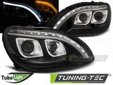 Faruri compatibile cu Mercedes W220 S-CLASS 09.98-05.05 DAYLIGHT Negru
