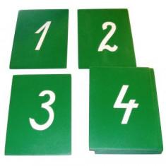 Cifre din glasspapier - cursive, Montessori