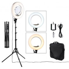 Lampa Circulara LED ,Ring Light 45cm, 480 led-uri -Oglinda,geanta,trepied,suport