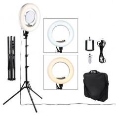 Lampa Circulara LED ,Ring Light 45cm, 480 led-uri -Oglinda,geanta,trepied,suport