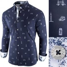 Camasa pentru barbati bleumarin slim fit casual London Town Cool