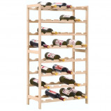 vidaXL Suport sticle de vin, lemn de cedru, 57,5 x 28 x 102 cm