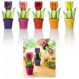 Set 2 solnite in forma de Flori in Ghiveci Div. Culori HR121150 JU DC