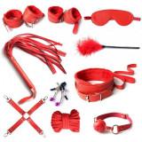 Set Bondage BDSM 10 Piese Rosu Guilty Toys