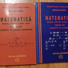 Manuale matematica clasa XII de Mircea Ganga (2 vol) 2007
