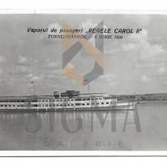 CARTE POSTALA , TURNU SEVERIN, VAPORUL REGELE CAROL II, 1936