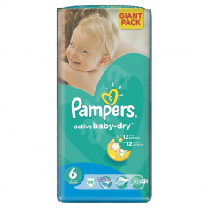 Scutece Pampers Active Baby-Dry 6 Extra Large, 56 buc, 15+ kg