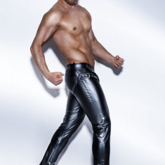 Lady Lust Lingerie Men Leather PU Pants Pantaloni BDSM Domination Jockstrap