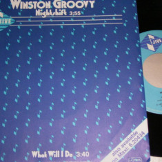 "Winston Groovy - Nightshift (1985, Jive) Disc vinil single 7"" super-hit"