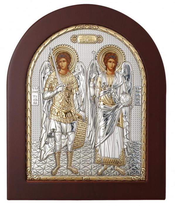 Sfintii Arhangheli Mihail si Gavril Icoana Argintata 14.7x18 cm Cod Produs 1402
