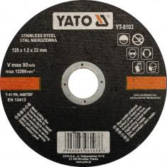 Disc debitat metale 125x1.2x22 mm YATO