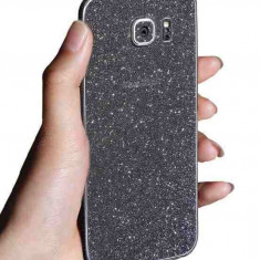 Folie sticker spate Glitter cu sclipici Samsung Galaxy S7 Edge