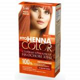 Vopsea de par permanenta fara amoniac FITO Henna Color 5.46 CUPRU ROSCAT