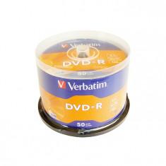 DVD-R Verbatim, 4.7 GB, 16x, 50 bucati/bulk, in cake box