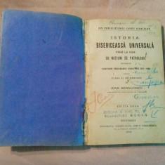 ISTORIA BISERICEASCA UNIVERSALA pana la 1054 -  Ioan Mihalcescu - 1919, 296 p.