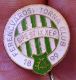 I.895 INSIGNA UNGARIA STICKPIN FOTBAL CLUB FERENCVAROSI TORNA CLUB h17mm email