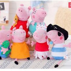 Set 6 jucarii de plus Peppa Pig