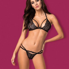 Set Sutien Si Chilotei Sexy, Negru - S/M