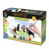 Joc creativ ColorMe Dogs, Set de colorat figurine catei 75659, D-Toys