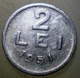 7.649 ROMANIA RPR 2 LEI 1951, Aluminiu