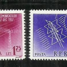 ROMANIA 1958 - CONFERINTA TELECOMUNICATIILOR-MOSCOVA - MNH - LP 451
