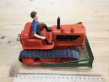 Jucarie vintage  tabla si plastic - buldozer Tri-ang Minic Toys