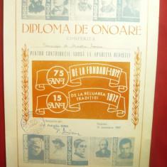 Diploma de Onoare1987 pt. Prof.Dr.Mioara Avram pt contribitia la Revista Noastra
