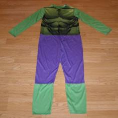 costum carnaval serbare hulk pentru copii de 8-9 ani