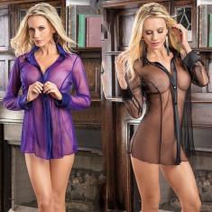 Sutien Top Transparent Mesh Costum de Baie Plaja Lady Lust Bluza Roba Camasa