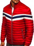 Cumpara ieftin Geacă sport bărbați matlasată roșie Bolf 6574