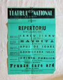 Afis vechi de teatru, afis vechi de colectie perioada comunista