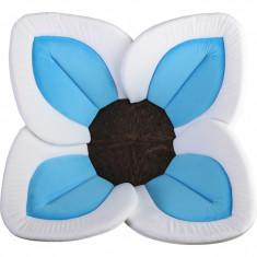 Cadita de plus si salteluta de joaca Lotus BloomingBath, albastru/maro