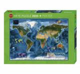 Cumpara ieftin Puzzle Heye Satellite Map, 2000 piese