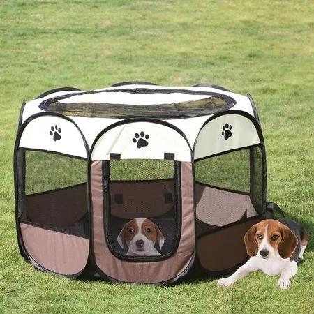 Tarc mediu pliabil pentru caini sau pisici, interior sau exterior 91x91x58 cm