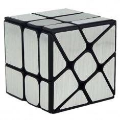 Cub Rubik 3x3x3 MoYu Wind Mirror Cube Argintiu 56.5*56.5*56.5 mm, 4-6 ani