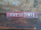 Reclama  veche,sticla,anii 80..PRESEDINTE-50cm