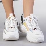 Pantofi sport dama Rodica albi, 36 - 41