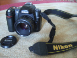 Nikon D50, ob Nikkor 50mm F1.8, 3 acumulat, acces orig complet,card2GB